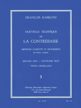 Nouvelle Technique de la Contrebasse - Volume 3: Méthode Complète et P (HL-48184044)