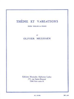 Theme et Variations pour Violon et Piano (for Violin and Piano) (HL-48180664)