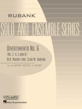 Divertimento No. 6 (Nos. 2, 4, 5, 6): Clarinet Sextet or Choir - Grade (HL-04479571)
