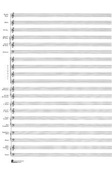 23. Score Pad: 20-stave (Concert Band): Passantino Manuscript Paper (HL-14025114)