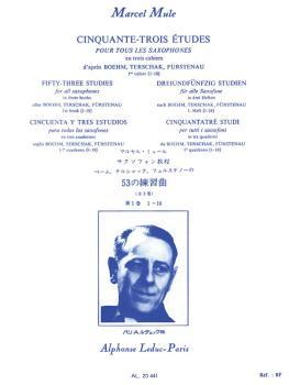 Cinquante-Trois Etudes pour Saxophone - Volume 1 (HL-48181178)