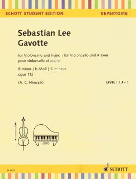 Gavotte: Op. 112 B Minor Cello and Piano Student Level 3 (HL-49045760)