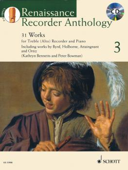 Renaissance Recorder Anthology - Volume 3: 31 Works for Treble Alto Re (HL-49045795)