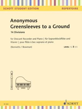 Greensleeves to a Ground: 14 Divisions Descant Recorder and Piano Scho (HL-49045903)