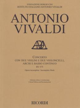 Concerto Rv 575 (for 2 Violins, 2 Celli, Strings and Basso Continuo Sc (HL-50601158)