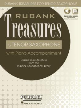 Rubank Treasures for Tenor Saxophone: Book with Online Audio stream or (HL-00121409)