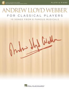 Andrew Lloyd Webber for Classical Players - Flute and Piano (With onli (HL-00275676)