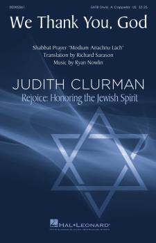 We Thank You, God: Judith Clurman - Rejoice: Honoring the Jewish Spiri (HL-00285561)