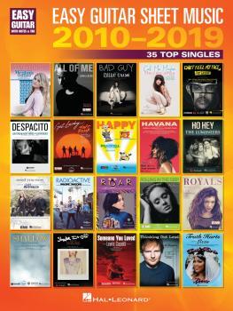 Easy Guitar Sheet Music 2010-2019 (25 Top Singles) (HL-00344969)
