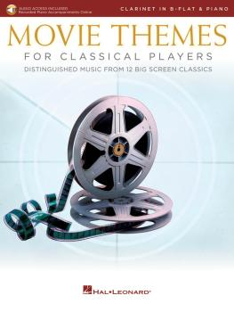 Movie Themes for Classical Players - Clarinet and Piano (With online a (HL-00284609)