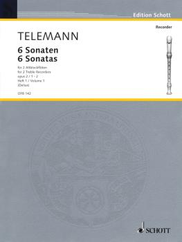 6 Sonatas Op. 2, Volume 1 (1-2) (for 2 Treble Recorders Flutes - Perfo (HL-49011244)