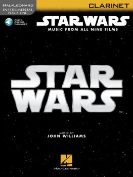 Star Wars - Instrumental Play-Along for Clarinet: Music from All Nine  (HL-00350903)
