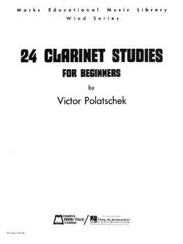 24 Clarinet Studies for Beginners (Clarinet Method) (HL-00008301)
