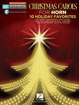 Christmas Carols: Horn Easy Instrumental Play-Along Book with Online A (HL-00130368)