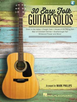 30 Easy Folk Guitar Solos (HL-00158098)