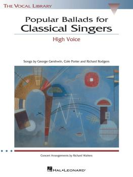 Popular Ballads for Classical Singers: The Vocal Library High Voice (HL-00740138)