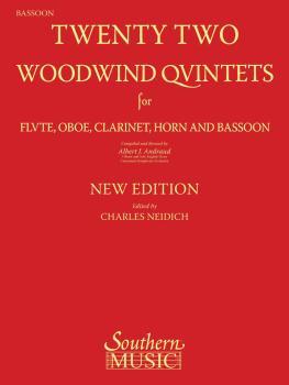 22 Woodwind Quintets - New Edition (Bassoon Part) (HL-03770289)