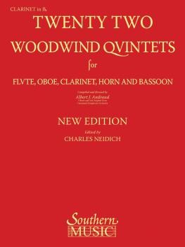 22 Woodwind Quintets - New Edition (Clarinet Part) (HL-03770290)