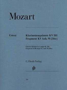 Clarinet Quintet A Major K581 and Fragment K.Anh. 91 (516c) (HL-51480769)
