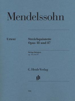 String Quintets, Op. 18 and 87 (Set of Parts) (HL-51480908)