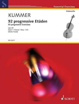 92 Progressive Exercises, Op. 60 - Book 1 (for Cello Schott Essential  (HL-49045620)