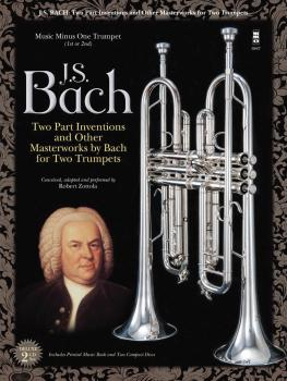 Johann Sebastian Bach: Two-Part Inventions for Two Trumpets (Book/2-CD (HL-00124386)