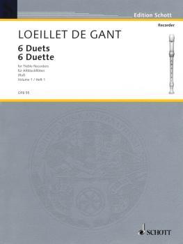 6 Duets - Volume 1 (for 2 Treble Recorders Flutes, Oboes, Violins - Pe (HL-49011355)