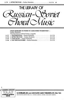 2 After the War (from Four Choruses of Alexander Twardovsky) (HL-50232490)