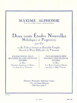 Deux cents Études Nouvelles Mélodiques et Progressives Pour Cor - Cahi (HL-48180159)