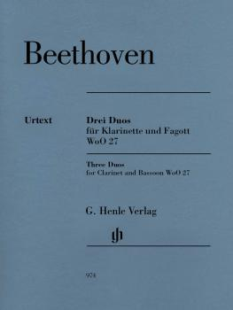 3 Duos for Clarinet and Bassoon WoO 27 (Score and Parts) (HL-51480974)
